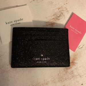 Kate Spade glitter card case